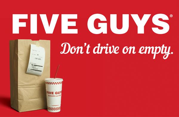Five Guys Hamburgers Branding
